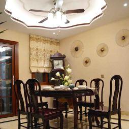 中式餐厅餐桌椅效果图