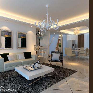 现代、时尚、个性三居室设计方案_1521950