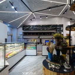现代风格甜品店柜台装修效果图