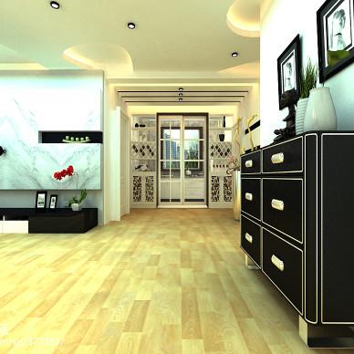 鸿福一号现代装修设计电视背景墙效果图_1525229