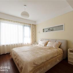 中式风格卧室窗帘装修效果图欣赏