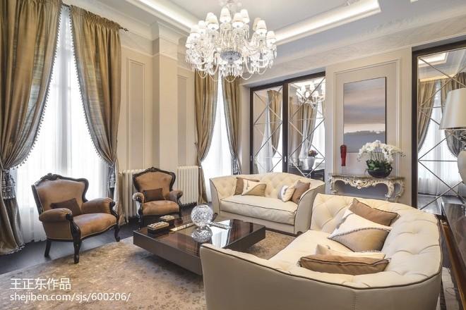 新古典风格家庭沙发装修效果图欣赏