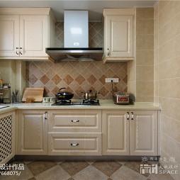 美式风格厨房厨柜装修效果图