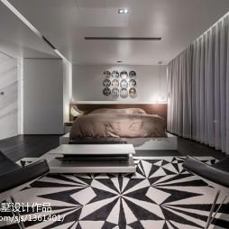 中式风格卧室远观全局效果图
