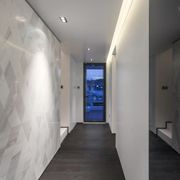 中式风格过道地板效果图