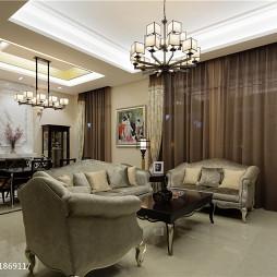 中式风格客厅吊顶图