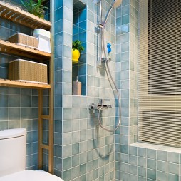 现代风格卫浴沐浴效果图