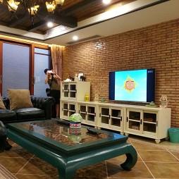 美式客厅电视背景墙图片