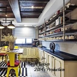 混搭风厨房置物架装修设计