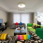 现代客厅绿色家具装修效果图欣赏