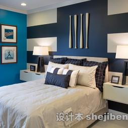 美式风格淡蓝色房间图片