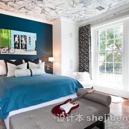 淡蓝色房间家居装修设计