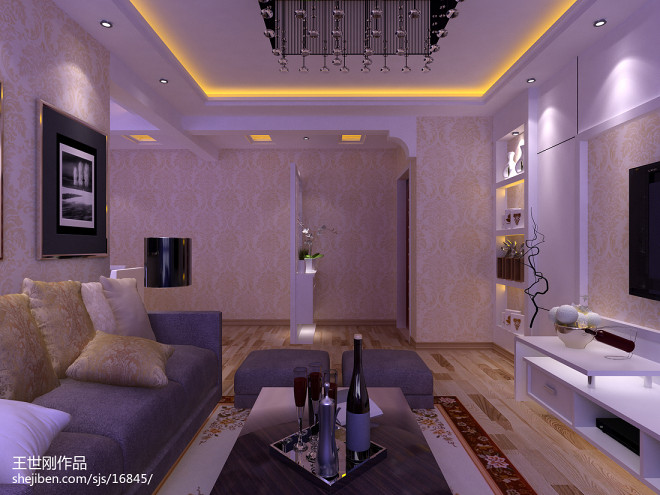 客厅暖色背景效果图集欣赏