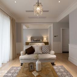 美式风格客厅吊顶装修图片