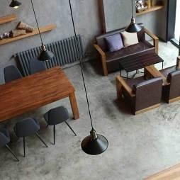 混搭风格咖啡厅大厅俯视图
