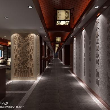 茶楼设计效果图集汇总_1544113