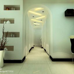 御龙山水 现代风格 电视背景墙 餐厅 过道设计_1545935