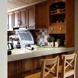 美式风格新婚房厨房装修图