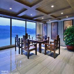 中式风格临海客厅吊顶装修效果图