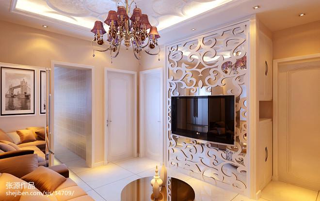 欧式小户型客厅空间创意设计效果图