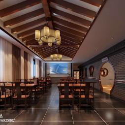 中式风格老年活动室设计_1557998