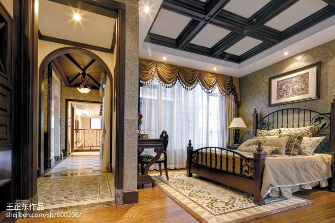 罗马欧式浪漫别墅跃层卧室装修效果图