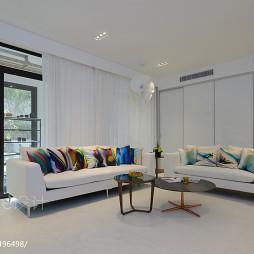 摩登.现代客厅窗帘图片