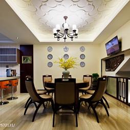 别墅中式餐厅吊顶设计