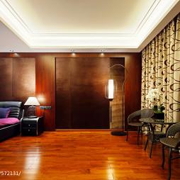 中式卧室窗帘装修图片