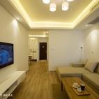 小户型混搭风格客厅背景墙装修效果图大全