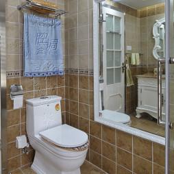 欧式卫生间不锈钢毛巾架效果图
