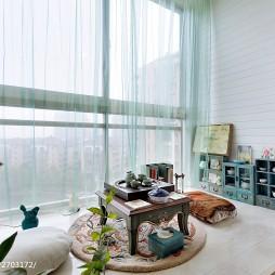 地中海阳台落地窗装修效果图