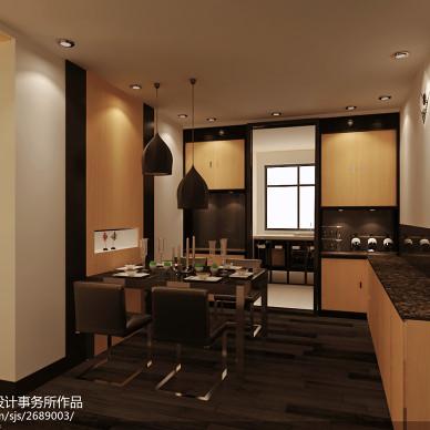 冷色调现代餐厅设计装修效果图图片