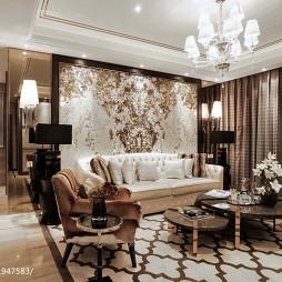 最新混搭风格客厅背景墙设计图大全