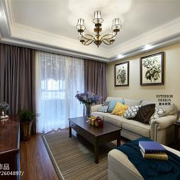 美式客厅窗户图片