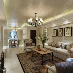 田园风格客厅沙发背景墙效果图大全
