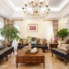美式客厅盆景装修图片