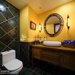 混搭卫生间瓷砖装修图