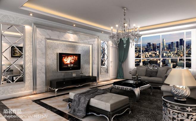 欧式石材电视墙装修效果图片欣赏