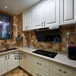 简约美式厨房贴砖效果图