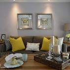 美式客厅沙发背景墙装修效果图欣赏