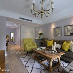 二居美式客厅装修设计