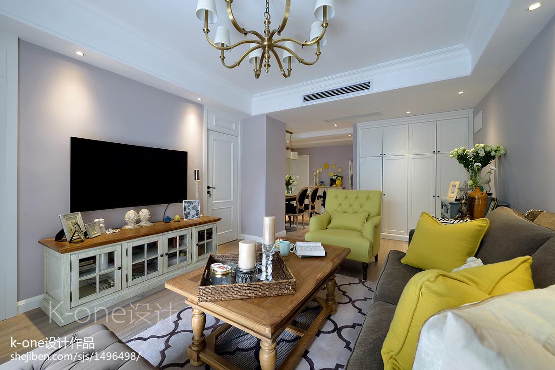 二居住宅美式客厅