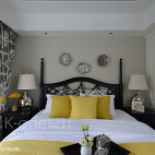 美式卧室背景墙设计
