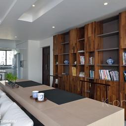 现代客厅书柜设计