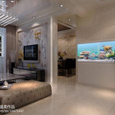 现代简约客厅大理石地砖效果图
