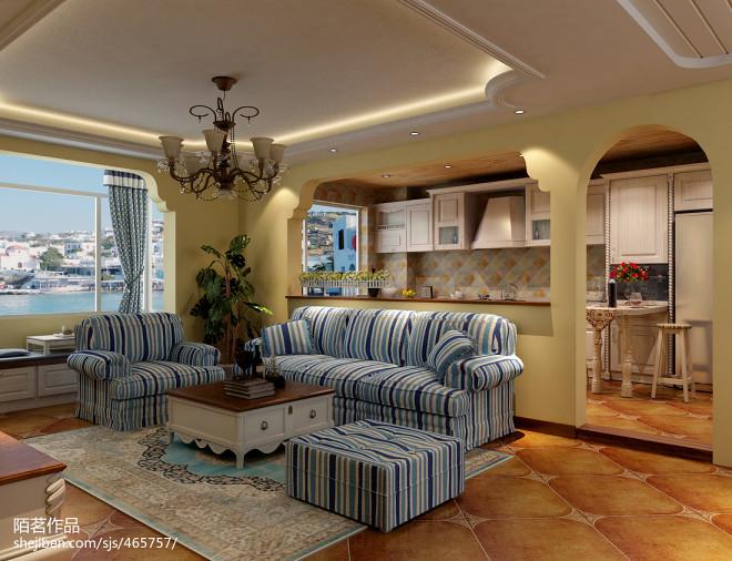 摩洛哥风格客厅装修设计效果图