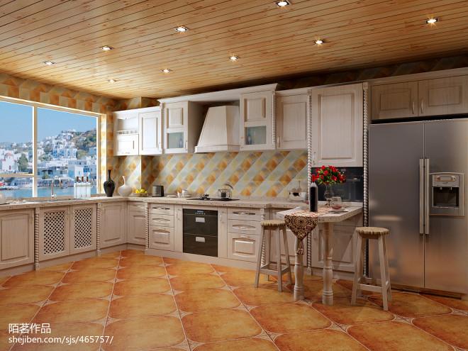 地中海风格厨房布置效果图