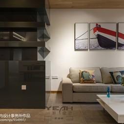 现代别墅客厅隔断设计
