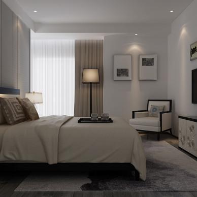 现代中式风格美丽的卧室设计效果图大全